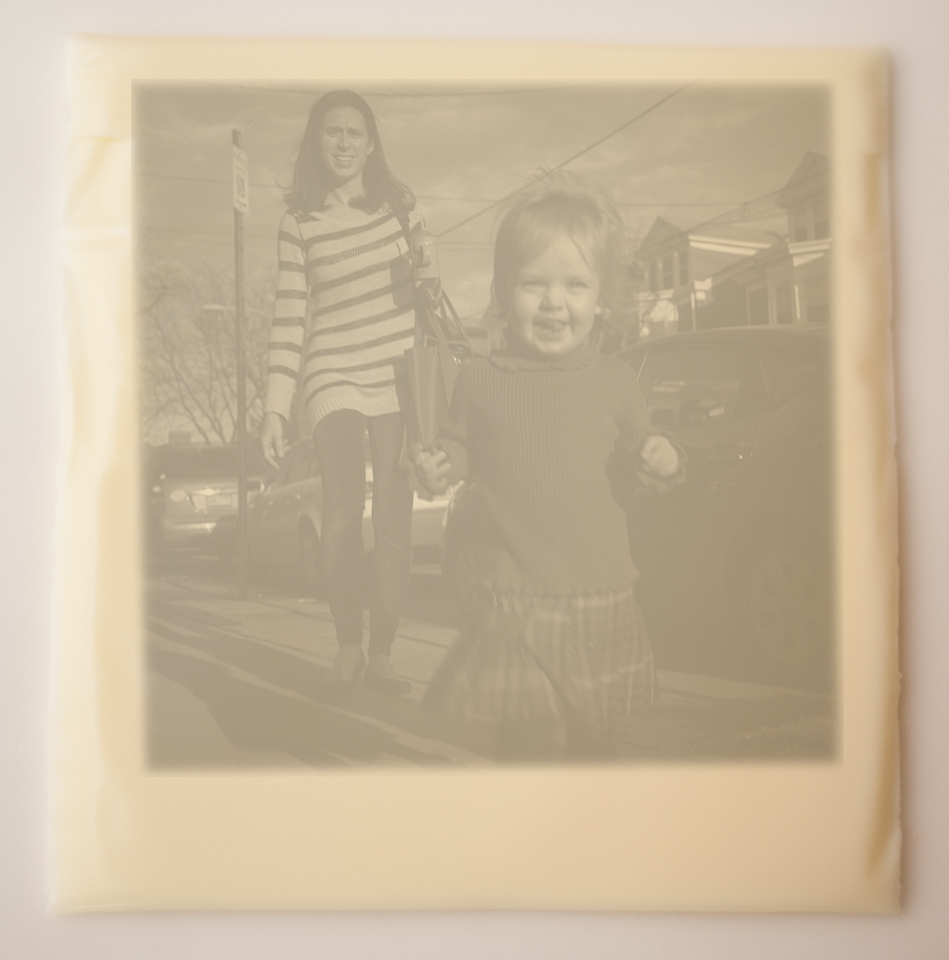 The resulting image is just smaller than a Polaroid, and retains all the charm. This process is not named, but I have been calling it a lactotype.